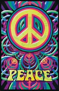 Peace Sign Blacklight Poster