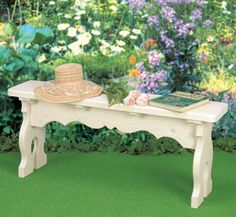 Victorian Bench Wood Project Plan Make this elegant Victorian-style bench. #diy #woodcraftpatterns