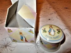Wedgwood Beatrix Potter Peter Rabbit Porcelain My First Lock of Hair trinket box