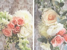 Greenery and pink florals