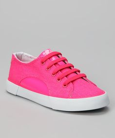Take a look at the Gotta Flurt Neon Pink Sunrise Sneaker on #zulily today!