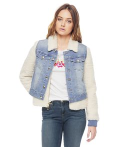 Juicy Couture | Cohen Wash Denim Jacket With Sherpa, Xs