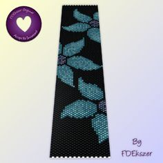 Midnight Lilly - Peyote Stitch Beading Pattern for cuff bracelet - PDF - bp24 / buy any 2 patterns GET 1 FREE special offer. $6.50, via Etsy.