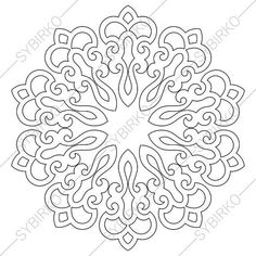 Coloring Page of Mandala. Collection of Zentangle Doodle