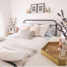 75 Romantic Bedroom Decor Ideas With Plant Theme - Home Decor - Romantic Bedroom Decor, Stylish Bedroom, Contemporary Bedroom, Modern Bedroom, Bedroom Neutral, Bedroom Simple, Dark Furniture Bedroom, Serene Bedroom, Bedroom Classic