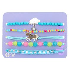 Shop Claire's for the latest trends in jewelry & accessories for girls, teens, & tweens. Find must-have hair accessories, stylish beauty products & more. Summer Bracelets, Cute Bracelets, Beaded Bracelets, Girls Accessories, Jewelry Accessories, Fashion Accessories, Cute Jewelry, Diy Jewelry, Unicorn Phone Case