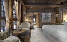 Sheltering amidst the snow-laded pines, Chalet Gentianes is one of the most sought-after luxury ski chalets in Courchevel France. This is a ski in and out chic mountain retreat with only a five minute Hotel Chalet, Chalet Chic, Chalet Style, Ski Chalet, Alpine Chalet, Chalet Design, House Design, Design Design, Design Ideas