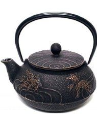 Japanese Goldfish Cast Iron Teapot Because of this, the fish symbolizes wealth, fidelity and prosperity. These Japanese tetsubin teapots are admired and collected not only for their quiet beauty, but also for their ability to brew the perfect pot of tea. It requires the skill of 17 craftsman to make one of these beautiful teapots.