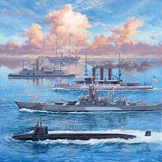 The five incarnations of the USS Missouri
