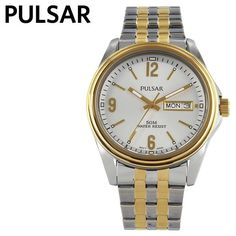Pulsar 3-Hand Two-tone Mens Watch