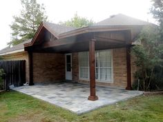 Custom Pergola And Rustic Patio Cover In Houston With