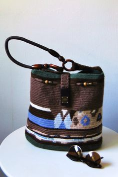 Chic Hand Bag  Crocheted Bag  Unique Bag  by MaryUniqueDoll