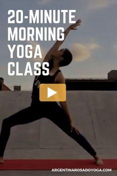 20-Minute morning yoga class video - Vinyasa Flow - Argentina Rosado Yoga - New York - Great class for beginners #yoga #yogapose #yogaclass #yogavideo #yogaworkout #morningworkout #workout #fitness #morningyoga #mindfulness #yogaforbeginners #howtostayfit #fitnessplan