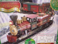 EZtec North Pole Express RC Wireless Locomotive Christmas Music Train Set G-Scal #Eztec