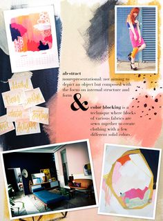 Being a big fan of abstract-style art and colorblocking within the fashion scene, the Abstract Colorblock theme going in on the design world is the perfect combination of these two notions.