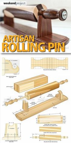 Woodturning Rolling Pin - Woodturning Projects and Techniques | WoodArchivist.com