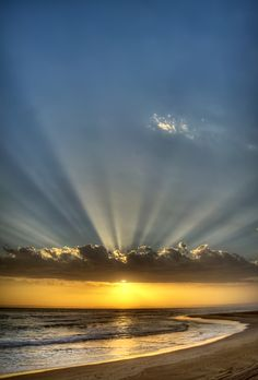 Rays of the Bays by Michael Cronje - Landscapes Waterscapes ( sunset, south africa, sea, ocean ) Beautiful Sunrise, Beautiful Beaches, Amazing Nature, Belle Photo, Beautiful Landscapes, Beautiful World, Nature Photography, Beautiful Pictures, Scenery
