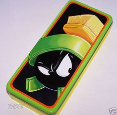 Looney Tunes Marvin The Martian Metal Pencil Case New