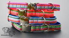 """Have a look at our KimbaMocca Summer """"Peru""""Collection www.kimbamocca.com - Beautiful #dog collars# in stunning colours !"""