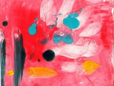($85.00) Monotype on lightweight Mulberry Paper by Amantha Tsaros Image size: 6x6 Paper size: 9x12
