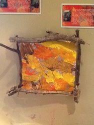 Framing Fall Themed Artwork with Natural Materials