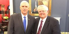 """Mike Pence Speaks at Conference on Behalf of Pastor Who Claims God Created Hitler to Be the """"Hunter"""" of Jews --- """"Then God sent a hunter... Hitler was a hunter. And the Bible says...'They shall hunt them from every mountain and from every hill and from the holes of the rocks,'... And that might be offensive to some people but don't let your heart be offended... Why did it happen? Because God said my top priority for the Jewish people is to get them to come back to the land of Israel.""""..."""