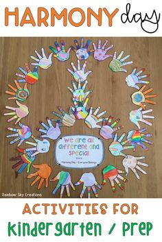 Teach students the importance of Harmony Day in Australia with these fun  printables & teaching ideas. Activities include an 'Everyone Belongs' poster to display, craft, early learning writing tasks & numeracy activities. Worksheets are suitable for Kindergarten. Harmony Day coincides with International Day for the Elimination of Racial Discrimination. {Prep, foundation, early years}