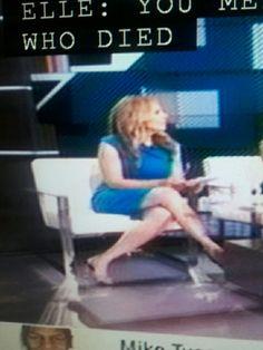 Linda Cohn In Blue Dress