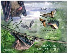 Mozambique - Bats - Mint Stamp Souvenir Sheet MNH 13A-736 84eb8fe63c64f