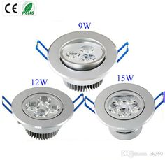 Ultra Bright 9W 12W 15W Led Downlights Dimmable 110V-240V Ceiling Wall Bulb Led Ceiling Lamp Led Spotlight Down Light Online with $13.67/Piece on Ok360's Store   DHgate.com