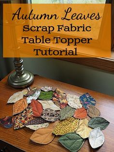 How to Make a Quilted Fall Leaves Table Runner, or Topper, out of Fabric Scraps Sie Herbst Tischläufer How to Make a Quilted Fall Leaves Table Runner, or Topper, out of Fabric Scraps Fall Sewing Projects, Scrap Fabric Projects, Fabric Scraps, Quilting Projects, Sewing Crafts, Sewing Tips, Sewing Tutorials, Sewing Hacks, Quilting Ideas