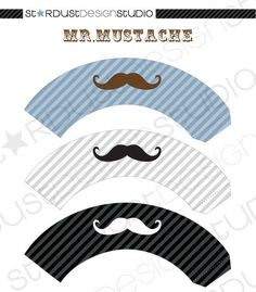 MUSTACHE cupcake wrappers, perfect for father's day!!