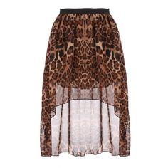 New Fashion Women Chiffon Pleated Retro Asymmetrical Swallow Tail Short Elastic Waist Skirt