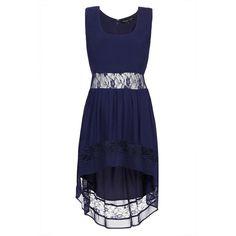 Petite Dip Hem Dress ($92) ❤ liked on Polyvore