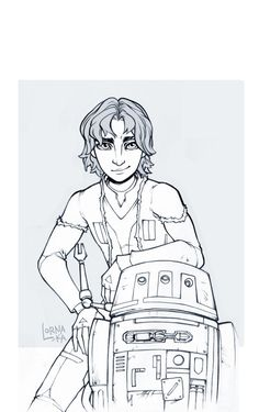 kanan and ezra drawings | ezra bridger