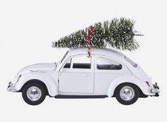 House Doctor julepynt - XMAS CAR i hvid med juletræ Driving Home For Christmas, Christmas Mood, Modern Christmas, White Christmas, Christmas Ideas, Christmas 2017, Christmas Inspiration, Holiday Ideas, Vintage Christmas