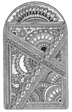 CW ♥ Love all of the intricate lines and the way they seem to go together.  This would be awesome to color!