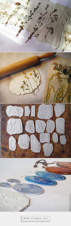 sieraden van klei en gedroogde bloemen - created via https://pinthemall.net
