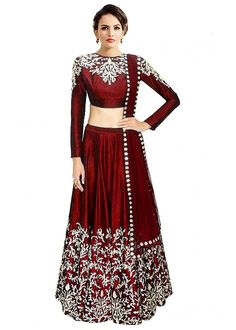 20b588995c Palli Fashion Georgette Lehenga Choli (Prachi Red_Red_Free Size):  Amazon.in: Clothing & Accessories