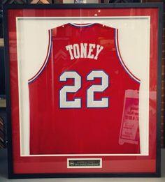 Custom framed Andrew Toney 76ers jersey! Custom framed by FastFrame of LoDo.   jersey 7a7124781