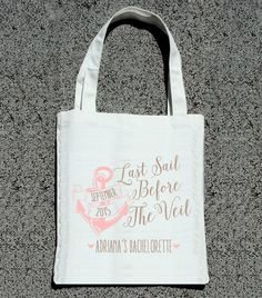 Last Sail Before The Veil Bachelorette Party Tote- Wedding Welcome Tote Bag