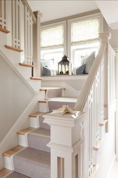 "Love this banister.  Benjamin Moore Paint Colors. ""Benjamin Moore Titanium OC-49"". #BenjaminMoore #Titanium #OC49"