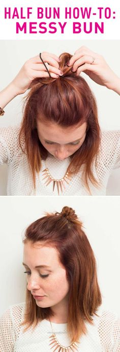 Adorable Few hairstyles can pass as practical and cute like a bun can. Looking to switch up your ordinary top knot? Try the half bun.  The post  Few hairstyles can pass as practical and cute lik ..