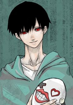 THE INE SHOT KANEKI!! I HAVE BEEN LOOKING FOR FAN ART OF YOU BUT COULD ONLY FIND YOU IN CHIBI MODE FOR SOME RESON!!