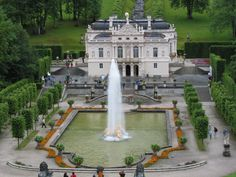 Linderhof Castle, Bavaria  Another of Mad King Ludvig's castles.  Beautiful