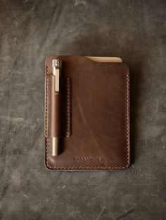 """Bas and Lokes Leather Goods - """"Dante"""" Walnut Brown Handmade Leather Notebook Sleeve, $99.00 (http://www.basandlokes.com/dante-walnut-brown-handmade-leather-notebook-sleeve/)"""