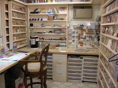 Love the wood mount stamp storage!!!