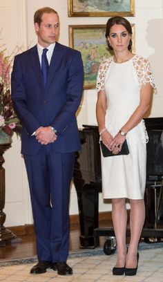 Catherine, Duchess of Cambridge and Prince William, Duke of Cambridge attend a reception hosted by the Governor General Peter Cosgrove at Government House on 24.04.14 in Canberra, Australia.