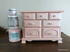 Fusion Mineral Paint's English Rose - DIY Jewelry Boxes update! #FusionMineralPaint #FurniturePaint