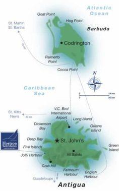 Map: Antigua and Barbuda Islands